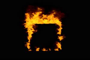 带通道 真实火焰爆炸烟雾 四周燃烧 特效后期 抠手机特效图片