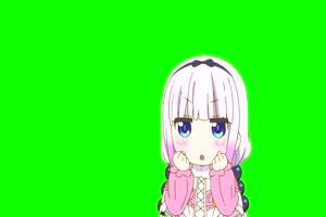 101 日本动漫 美少女 萝莉 绿幕视频Kanna Kamui Kob手机特效图片