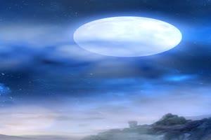 空中嫦娥背景 巧影素材 竖版特效手机特效图片