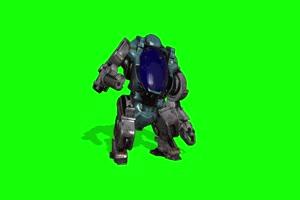 绿幕视频素材机器人阿特拉斯前面 绿幕视频素材手机特效图片