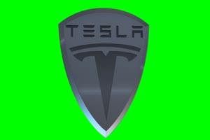 特斯拉 Tesla logo 车标 绿屏抠像 特效素材手机特效图片