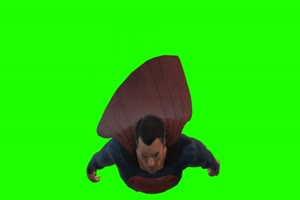超人 飞 7 漫威英雄 复仇者绿布和绿幕视频抠像素材