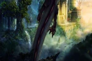 震撼龙片头有音乐南天门 天宫 天庭 仙境 神仙之手机特效图片