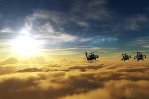 军用直升机 1 飞机 绿屏绿幕 抠像素材手机特效图片