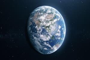 地球俯瞰第一视角 行星太空背景视频03手机特效图片