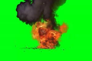 警车爆炸 巧影手机特效绿屏抠像素材免费下载