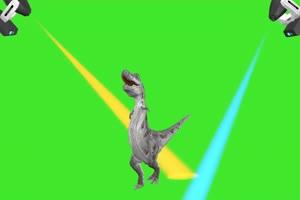 恐龙跳舞 动物绿幕视频素材下载 @特效牛绿幕素手机特效图片