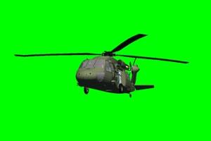 黑鹰 直升机 7 飞机 绿屏绿幕 抠像素材手机特效图片