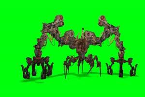 蜘蛛战斗机 机器人 视频特效 绿幕素材 抠像通道手机特效图片