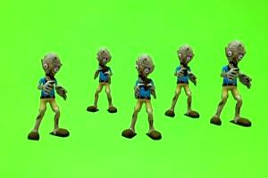 僵死跳舞绿布和绿幕视频抠像素材