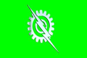 福特闪电 Ford Lightning Logo 车标 绿屏抠像 特效素材手机特效图片