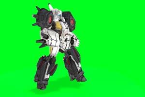 机器战斗机5 机器人 视频特效 绿幕素材 抠像通道手机特效图片