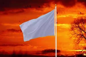 白旗 投降 国旗绿幕后期抠像视频特效素材@特效手机特效图片
