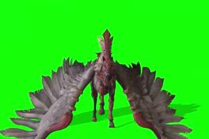 白色飞马 特效牛 绿幕素材 抠像视频 后期特效素手机特效图片