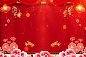 牛年春节拜年背景视频素