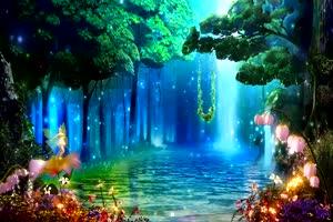 唯美森林 梦幻森林 仙境 背景视频下载33手机特效图片