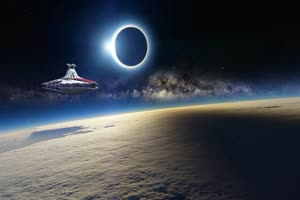 歼星舰 宇宙飞船 星球大战 4 特效后期 绿屏抠像