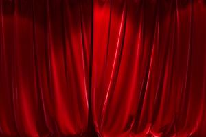 窗帘 幕布打开关闭 开幕式绿布和绿幕视频抠像素材
