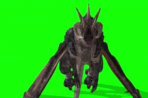 4K 蝙蝠怪翼龙 绿幕素材 绿幕视频 动物绿幕手机特效图片