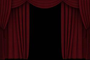 幕布打开 开场 闭幕 透明绿布和绿幕视频抠像素材