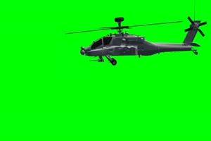 Apache 直升机 7 飞机 绿屏绿幕 抠像素材手机特效图片