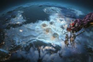 圣诞老人有音乐 特效牛绿布和绿幕视频抠像素材