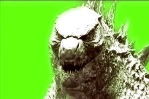 哥斯拉绿幕视频素材 怪兽绿幕剪映抠像@特效牛手机特效图片