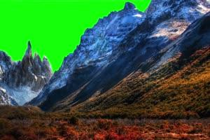 雪山2 自然绿屏抠像素材手机特效图片