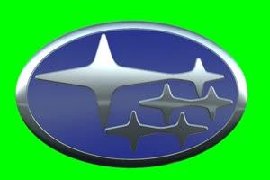 斯巴鲁 subaru logo 车标 绿屏抠像 特效素材手机特效图片