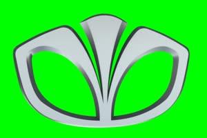大宇 Daewoo logo 车标 绿屏抠像 特效素材手机特效图片