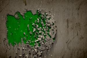 免费 墙壁崩塌 墙壁碎1 绿幕视频 绿幕素材免费下手机特效图片