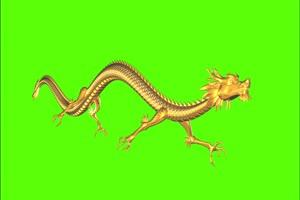 免费的中国龙飞绿幕视频素材 怪兽绿幕剪映抠像手机特效图片