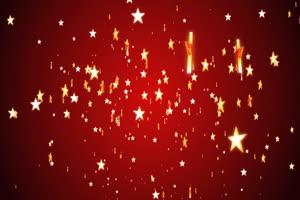 圣诞五角星红色背景素材