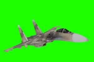 战斗机 飞机 苏37 2 绿屏抠绿布和绿幕视频抠像素材