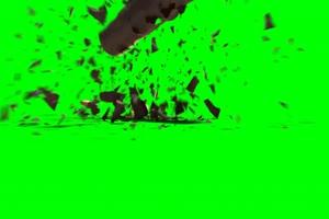 免费 爆炸碎片 绿幕视频