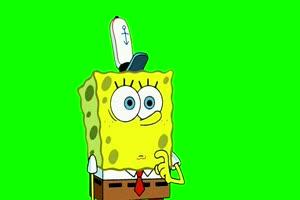 073 Smug 海绵宝宝 Just One Bite 绿幕视频素材下载手机特效图片