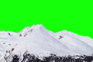 雪山 自然绿屏抠像素材手机特效图片