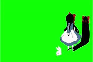 美女 幽灵 鬼魂 绿屏抠像素材手机特效图片