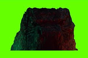 哥斯拉大战金刚绿幕视频素材 剪映AE抠像特效@特手机特效图片
