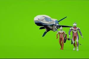 奥特曼飞船绿幕素材 高清版手机特效图片