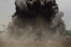 战斗机 飞机 轰炸农田 绿屏抠像特效素材特效牛