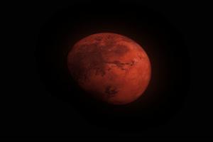 火星 八大行星 真实 带通道抠像视频素材 2K素材手机特效图片