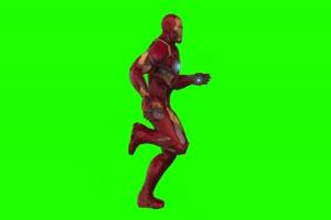 钢铁侠 跑 4 漫威英雄 复仇者联盟 绿屏抠像 特效