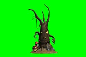 怪兽  万圣节 大树 邪恶大树手机特效图片