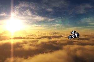 宇宙飞船 未来太空 特效后期 绿屏抠像素材手机特效图片
