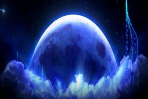月色海面27有音乐 星空 月亮 夜晚 背景素材手机特效图片
