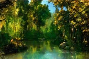 唯美森林 梦幻森林 仙境 背景视频下载27手机特效图片
