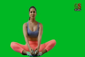 免费美女瑜伽 美女跳舞热舞 绿幕抠像 绿屏素材手机特效图片