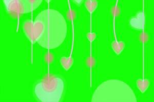 2020情人节 七夕节 爱心 情人 爱心 绿幕素材 13 巧手机特效图片