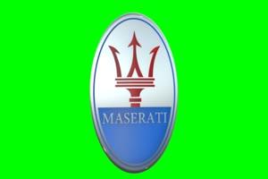 玛莎拉蒂  logo 车标 绿屏抠像 特效素材手机特效图片